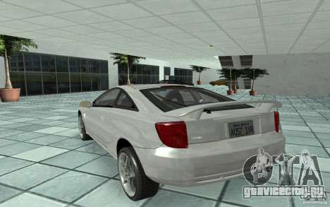 Toyota Celica для GTA San Andreas вид сзади слева