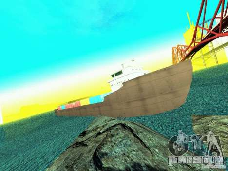 Drivable Cargoship для GTA San Andreas второй скриншот