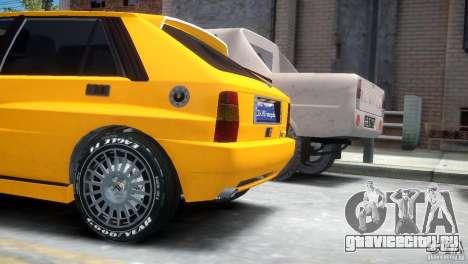 Lancia Delta HF Integrale для GTA 4 вид сзади слева