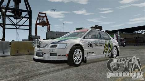 Mitsubishi Lancer Evolution IX RallyCross для GTA 4 вид изнутри