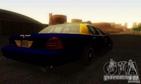 Ford Crown Victoria West Virginia Police для GTA San Andreas вид слева
