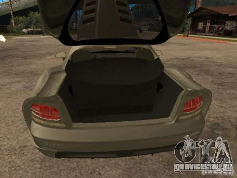 Dodge Viper Coupe 2008 для GTA San Andreas вид сзади