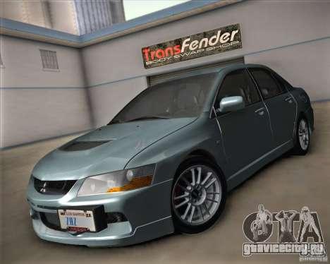 Mitsubishi Lancer Evolution IX Tunable для GTA San Andreas вид сзади
