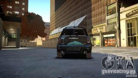 Mini Cooper Clubman для GTA 4 вид сзади слева