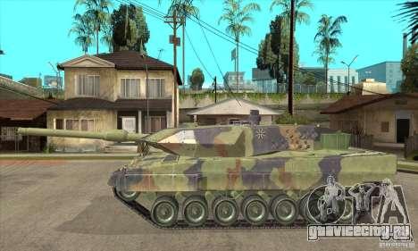 Leopard 2 A6 для GTA San Andreas вид слева