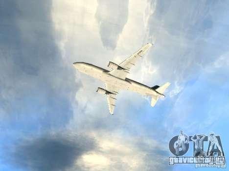 Airbus A320 Air France для GTA San Andreas вид сверху
