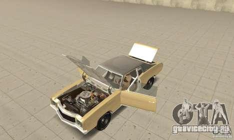 Chevy Monte Carlo [F&F3] для GTA San Andreas вид сзади