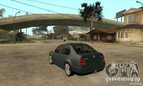 Volkswagen Bora-Golf для GTA San Andreas вид сзади слева