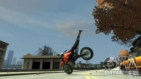 Stunt Supermotard Sanchez для GTA 4 вид изнутри