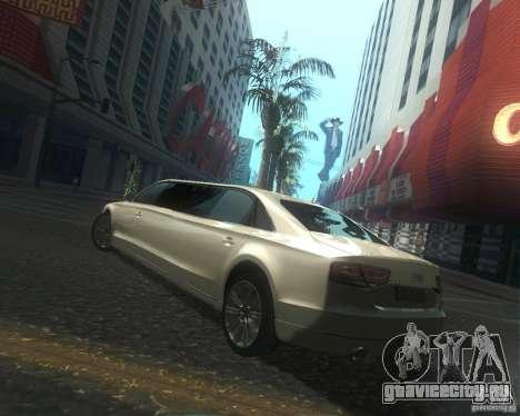 Audi A8 2011 Limo для GTA San Andreas вид сбоку