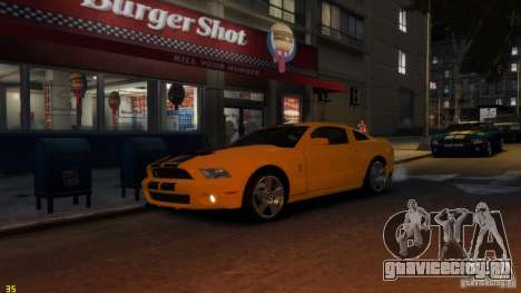 Ford Shelby Mustang GT500 2011 v2.0 для GTA 4 вид изнутри