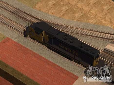 SD 40 UP BN Santa Fe для GTA San Andreas вид слева