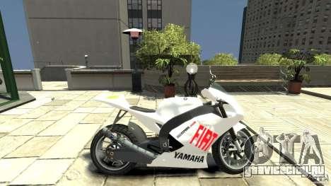 Yamaha YZR M1 MotoGP 2009 для GTA 4 вид слева