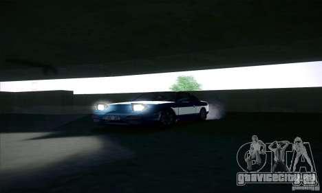 Nissan 240SX 1990 для GTA San Andreas вид изнутри