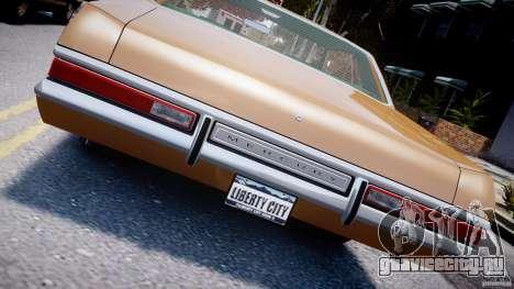 Mercury Monterey 2DR 1972 для GTA 4 вид сверху