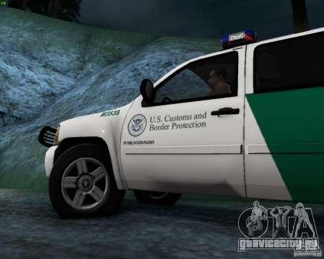 Chevrolet Silverado Police для GTA San Andreas вид изнутри