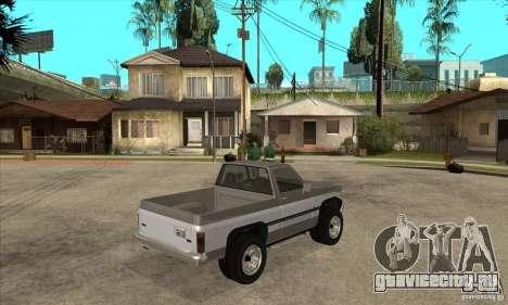 Ford Ranger для GTA San Andreas вид сзади