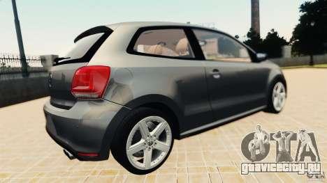 Volkswagen Polo v2.0 для GTA 4 вид справа