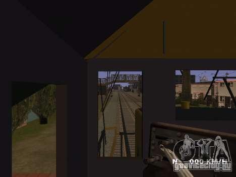 SD 40 UP BN Santa Fe для GTA San Andreas вид изнутри