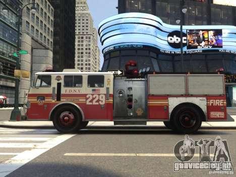 Fire Truck FDNY для GTA 4 вид сзади