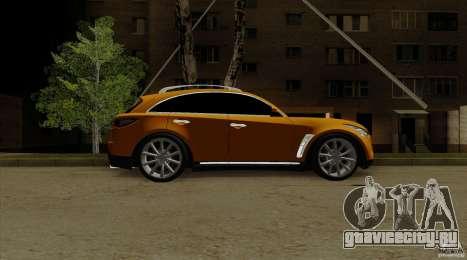Infiniti FX37 v1 для GTA San Andreas вид сзади слева
