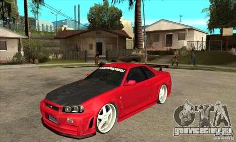 Nissan Skyline GTR-34 Carbon Tune для GTA San Andreas