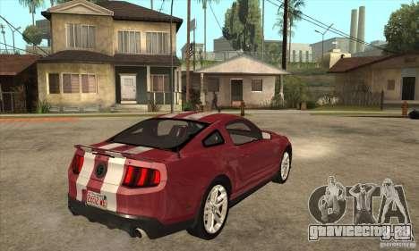Shelby GT500 2010 для GTA San Andreas вид справа