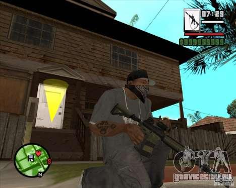 HQ M4A1 - DMG MK11 для GTA San Andreas третий скриншот