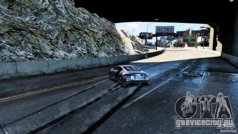 Audi R8 Spider 2011 для GTA 4 вид снизу