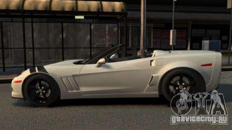 Chevrolet Corvette C6 2010 Convertible v2.0 для GTA 4 вид слева