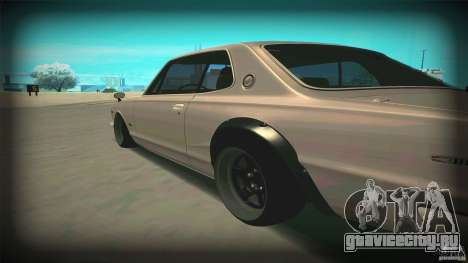 Nissan Skyline 2000GT-R JDM Style для GTA San Andreas вид сзади слева