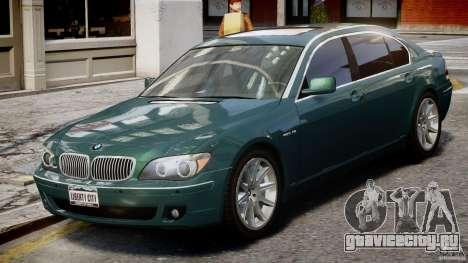 BMW 7 Series E66 для GTA 4 вид изнутри
