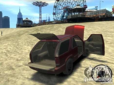 Chevrolet Blazer LS 2dr 4x4 для GTA 4 вид сбоку