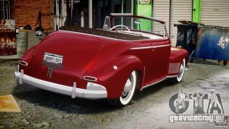 Chevrolet Special DeLuxe 1941 для GTA 4 вид сбоку