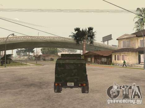 Oshkosh SandCat of Mexican Army для GTA San Andreas вид сзади