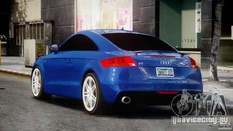 Audi TT RS Coupe v1.0 для GTA 4 вид сзади слева