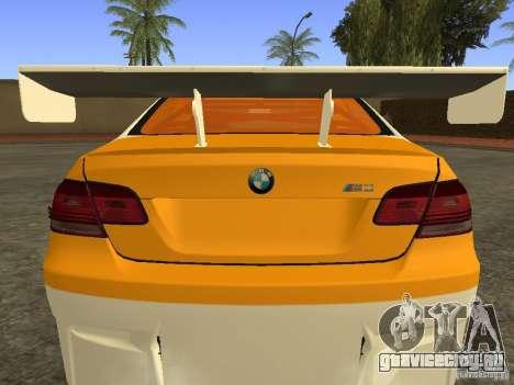 BMW M3 E92 DriftRoots для GTA San Andreas вид сзади слева