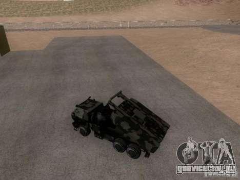 M142 HIMARS Artillery для GTA San Andreas вид сзади слева