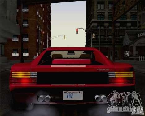 Ferrari Testarossa 1986 для GTA San Andreas вид справа
