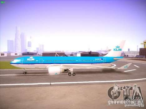 Airbus A330-200 KLM Royal Dutch Airlines для GTA San Andreas вид сзади