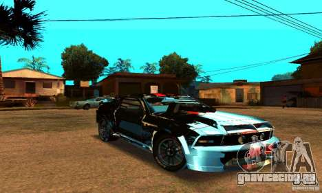 Ford Mustang Shelby GT500 From Death Race Script для GTA San Andreas вид изнутри