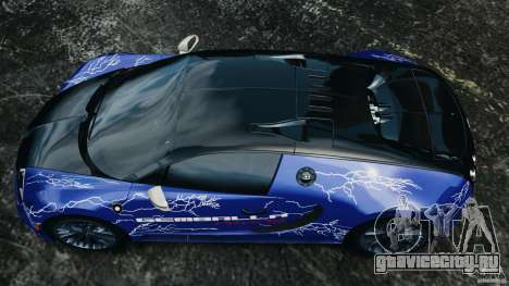 Bugatti Veyron 16.4 Super Sport 2011 v1.0 [EPM] для GTA 4 вид справа