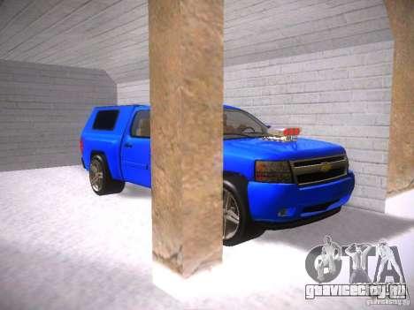 Chevrolet Silverado для GTA San Andreas вид изнутри