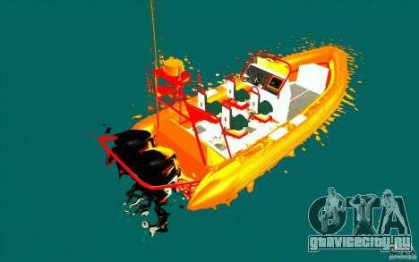 Inferno orange для GTA San Andreas вид сзади слева