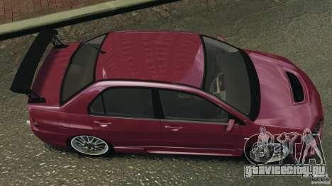 Mitsubishi Lancer Evolution 8 для GTA 4 вид справа