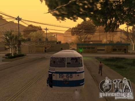 ЛАЗ 695М для GTA San Andreas вид изнутри