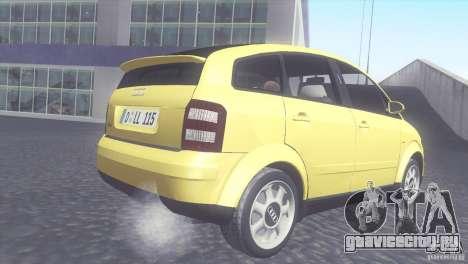 Audi A2 для GTA San Andreas вид справа