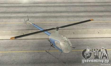 Robinson R22 для GTA San Andreas вид сбоку