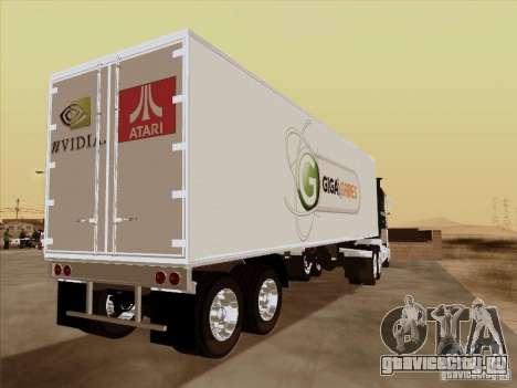 Caband trailer для GTA San Andreas вид сзади слева