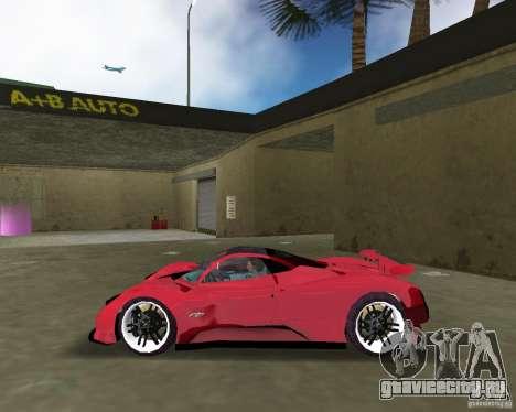Pagani Zonda S для GTA Vice City вид слева